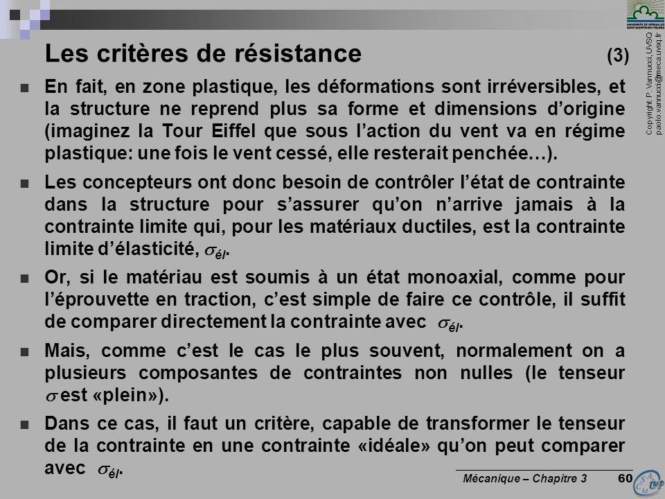 Les critères de résistance (3)