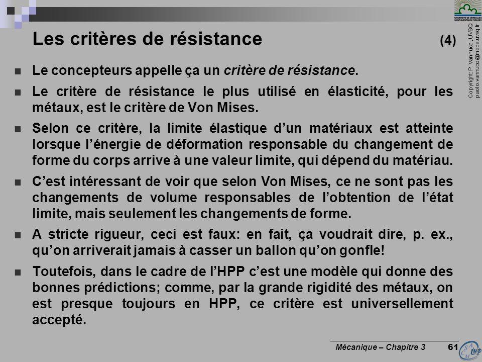 Les critères de résistance (4)