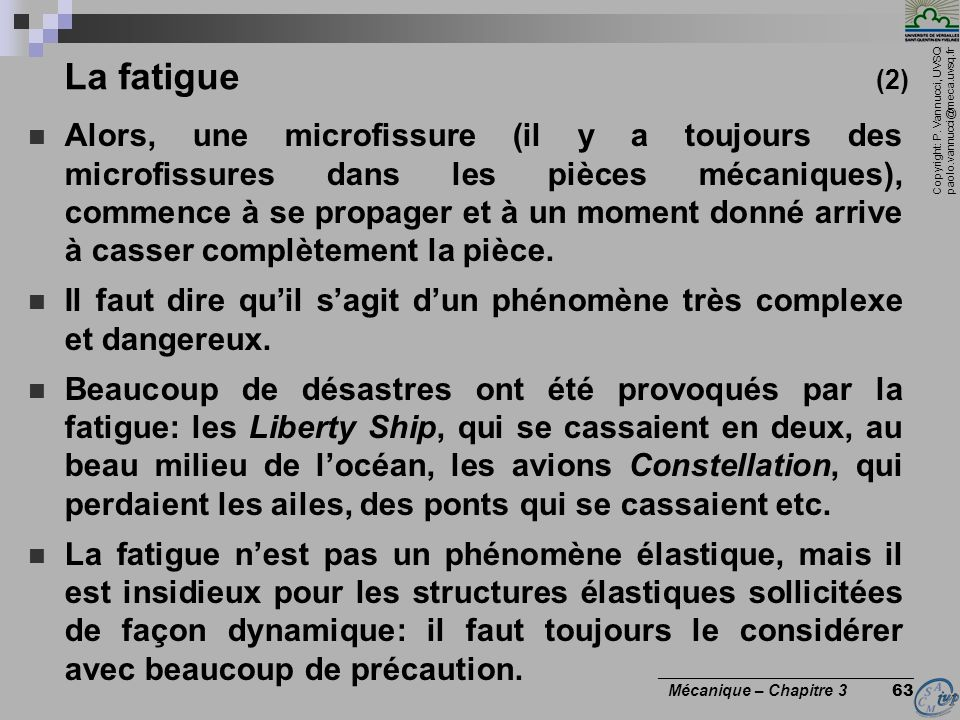 La fatigue (2)