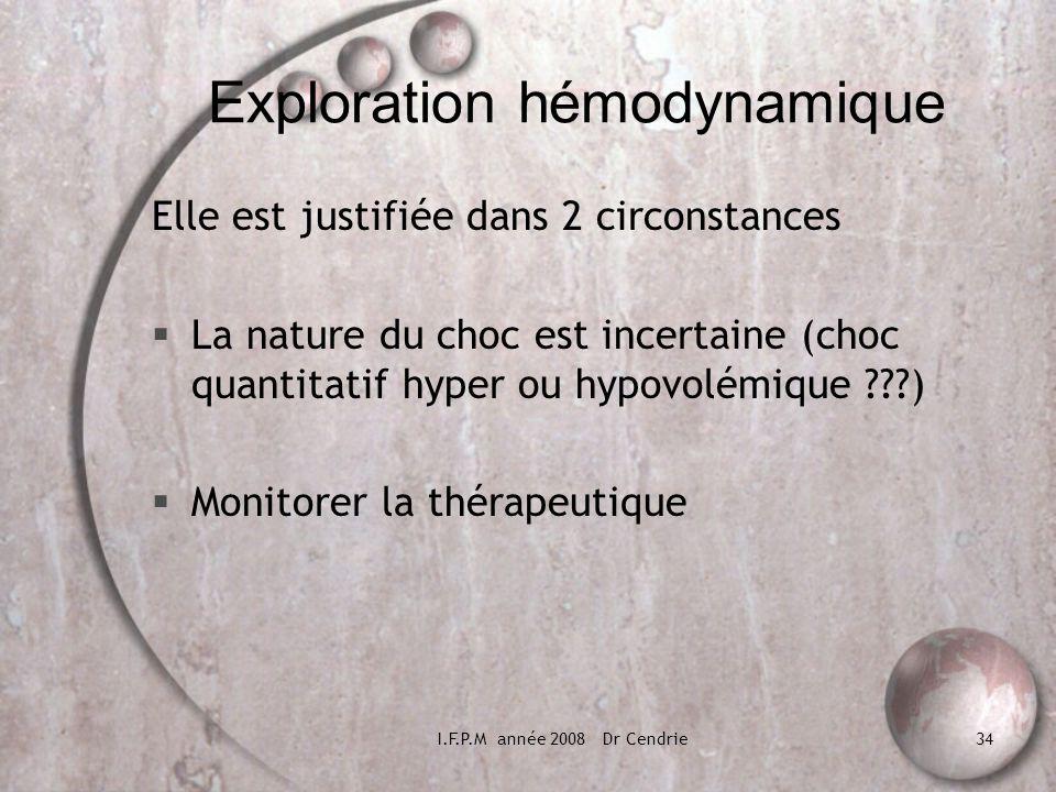 Exploration hémodynamique