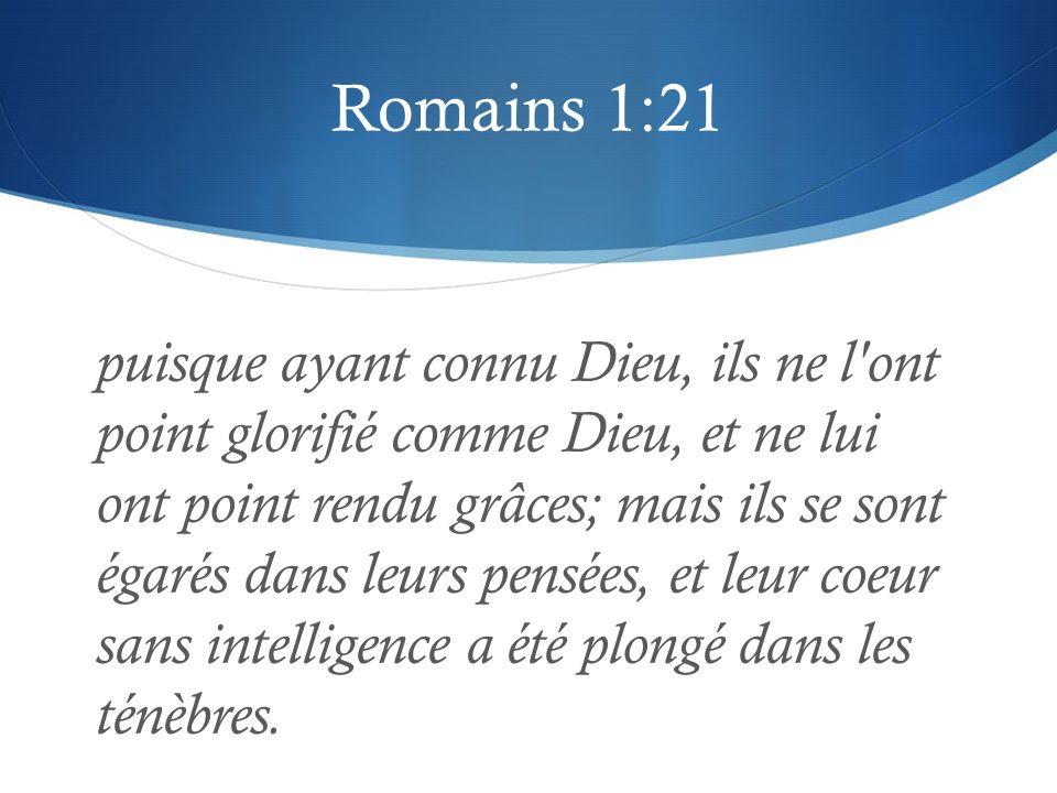 Romains 1:21