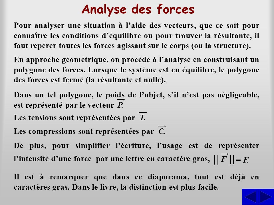 Analyse des forces