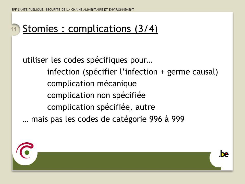 Stomies : complications (3/4)