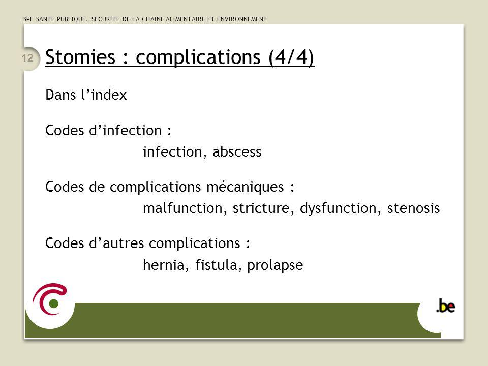 Stomies : complications (4/4)