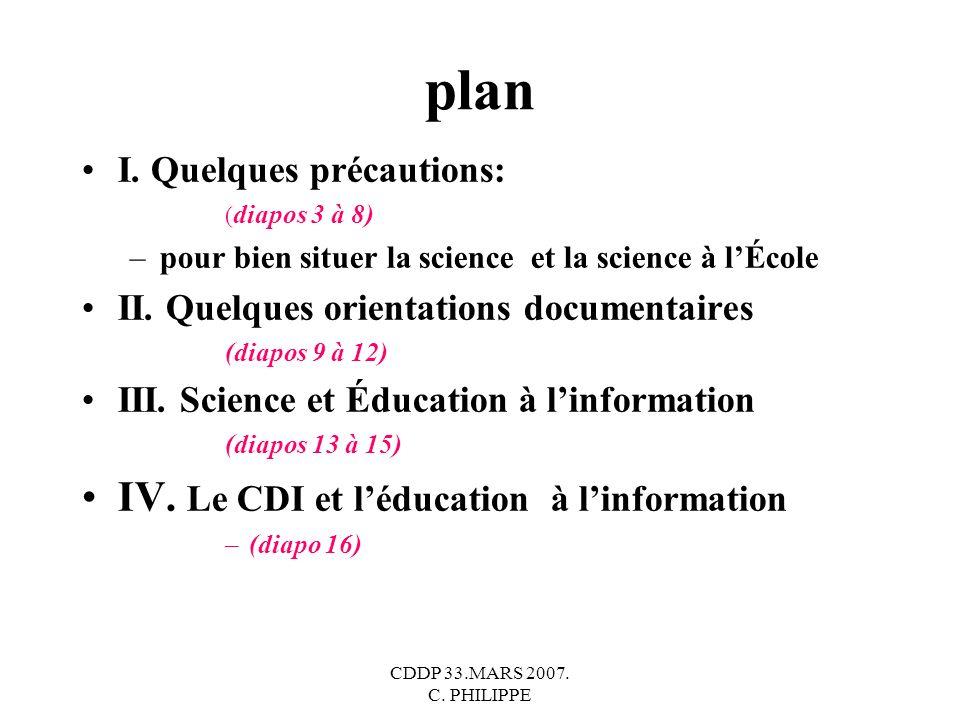 plan IV. Le CDI et l'éducation à l'information