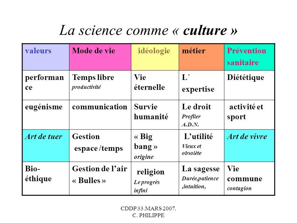 La science comme « culture »