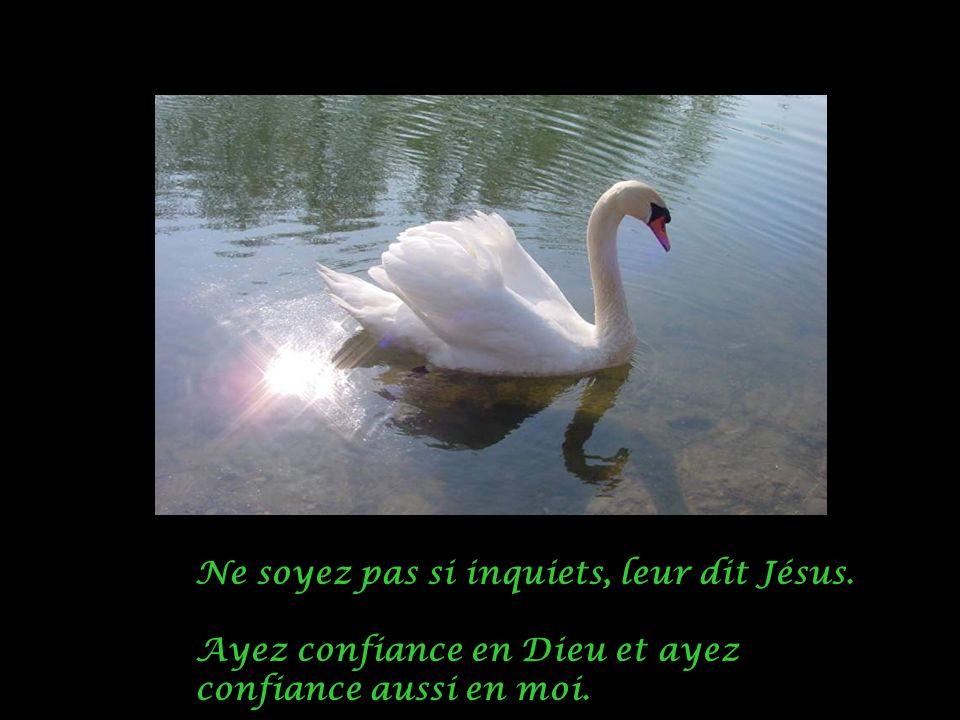 Ne soyez pas si inquiets, leur dit Jésus.