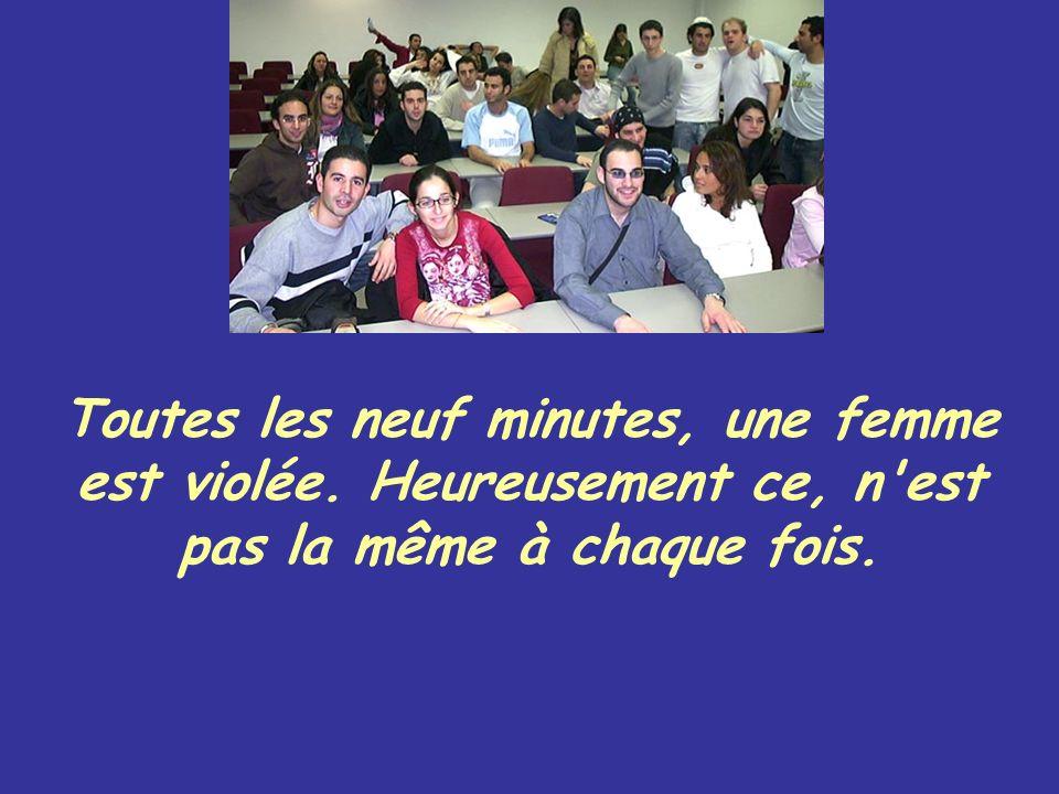 Toutes les neuf minutes, une femme est violée