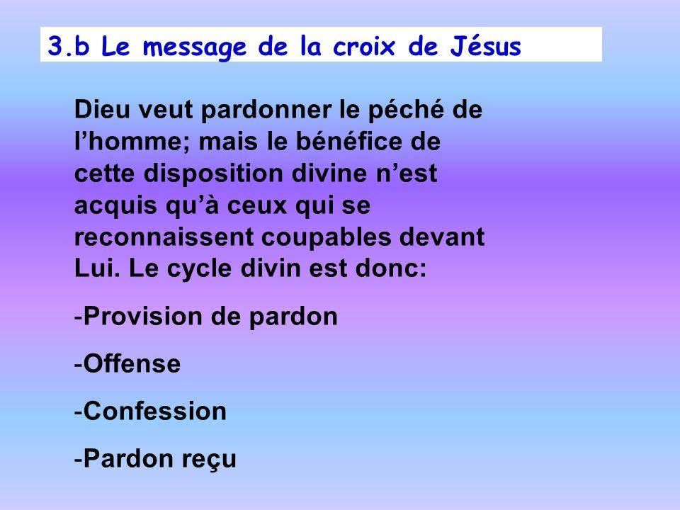 3.b Le message de la croix de Jésus