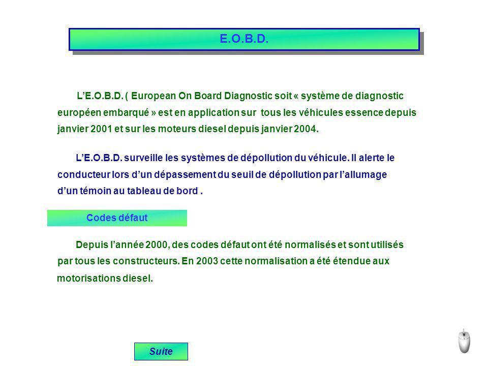 E.O.B.D. L'E.O.B.D. ( European On Board Diagnostic soit « système de diagnostic.