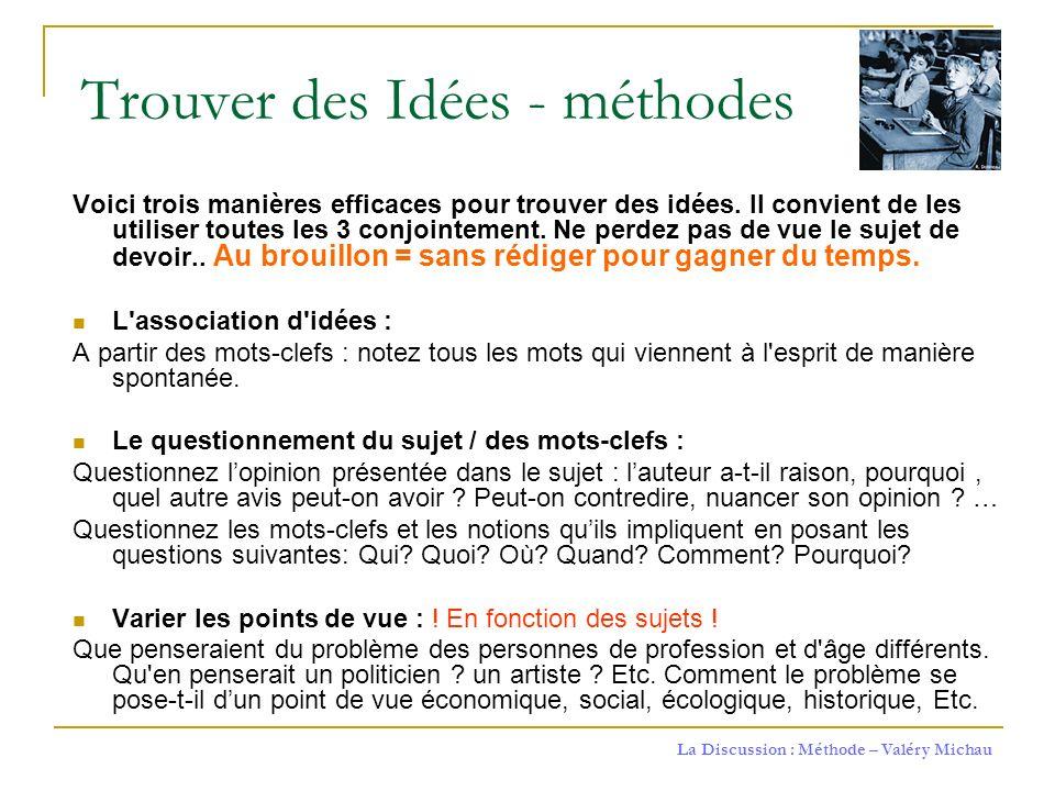 Trouver des Idées - méthodes