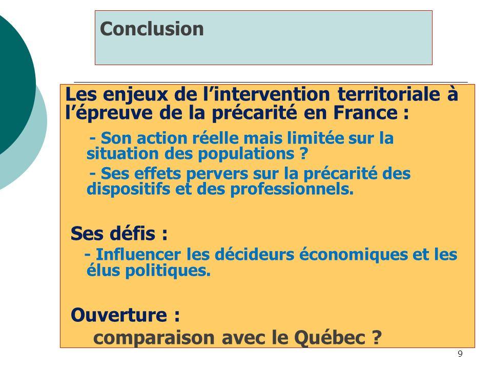 comparaison avec le Québec