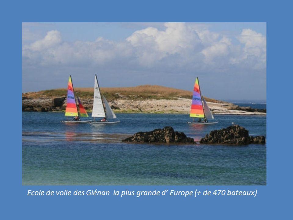 Ecole de voile des Glénan la plus grande d' Europe (+ de 470 bateaux)