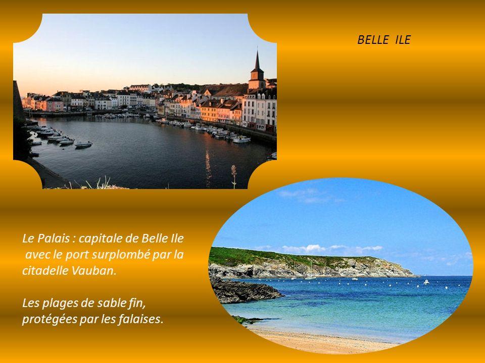 BELLE ILE Le Palais : capitale de Belle Ile. avec le port surplombé par la citadelle Vauban.