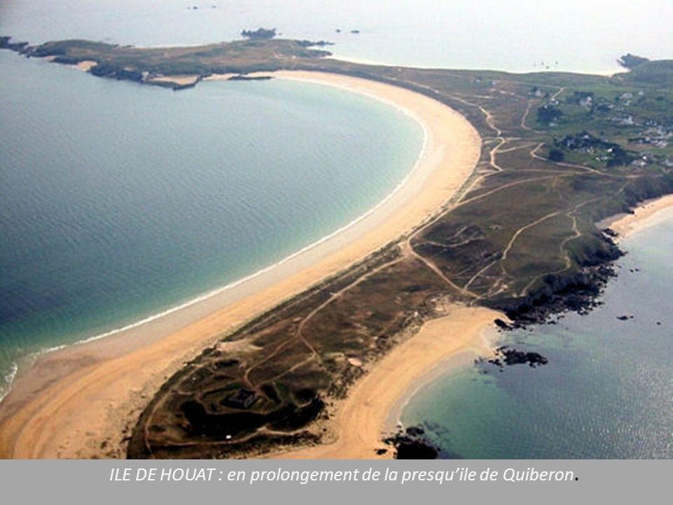 ILE DE HOUAT : en prolongement de la presqu'ile de Quiberon.