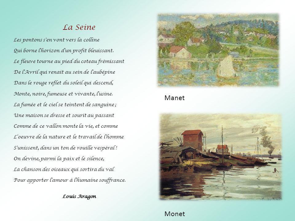 La Seine Manet Monet Les pontons s en vont vers la colline