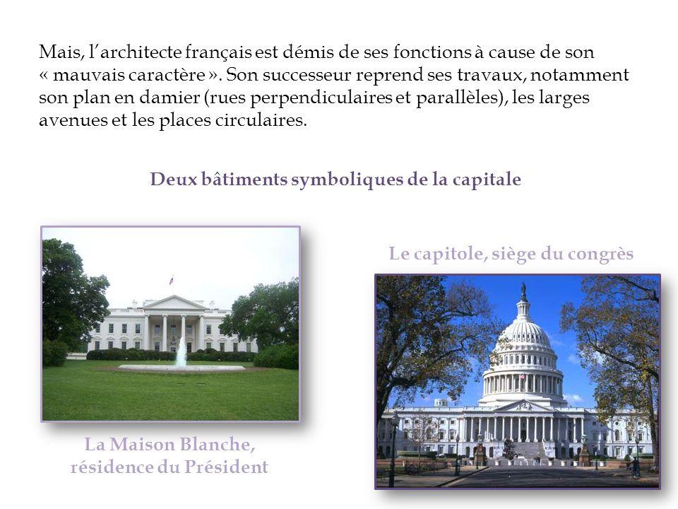 La Maison Blanche, résidence du Président