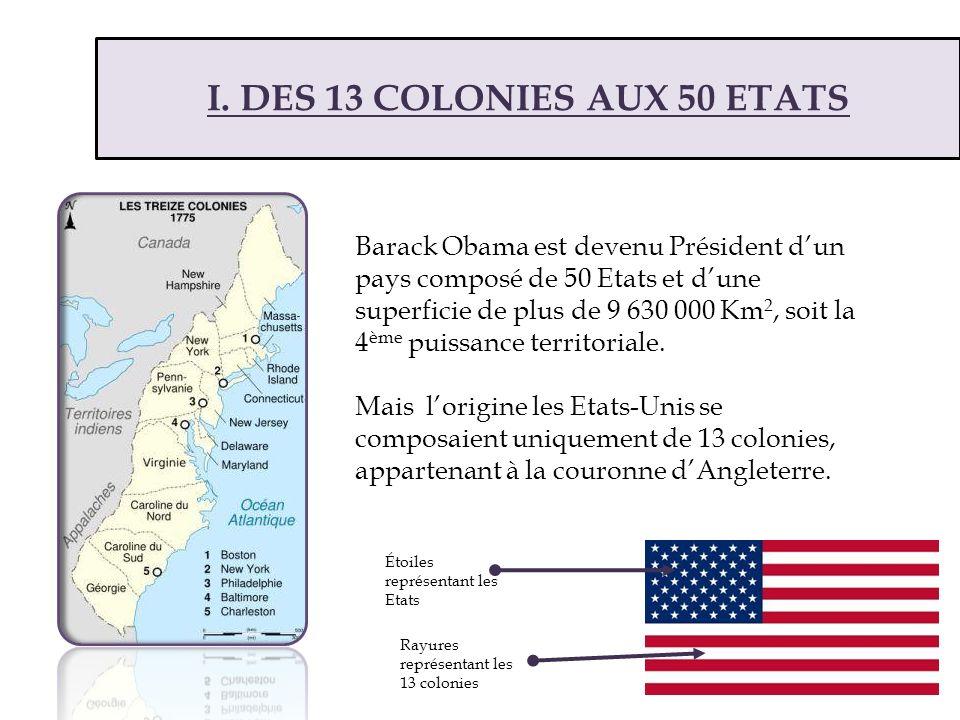 I. DES 13 COLONIES AUX 50 ETATS