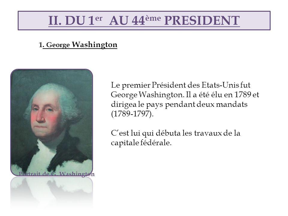 II. DU 1er AU 44ème PRESIDENT