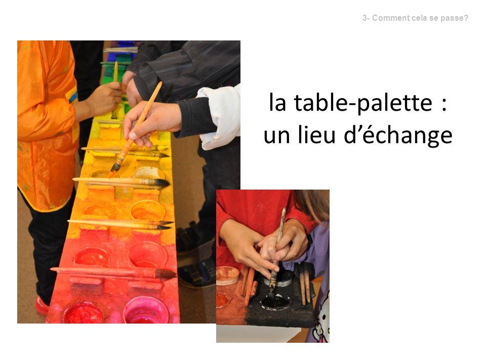 la table-palette : un lieu d'échange