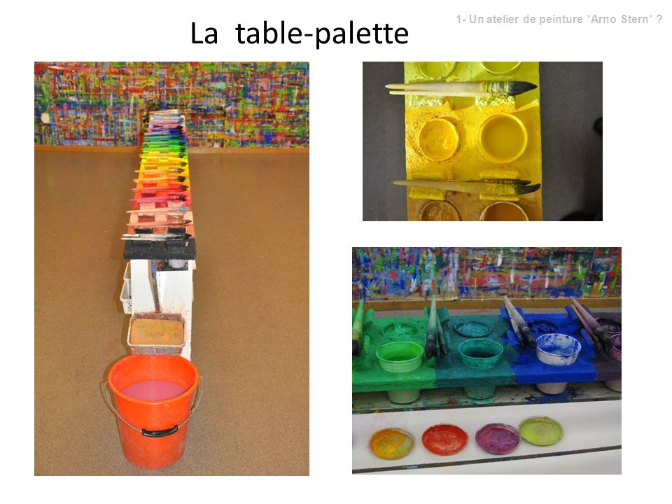 La table-palette 1- Un atelier de peinture *Arno Stern*