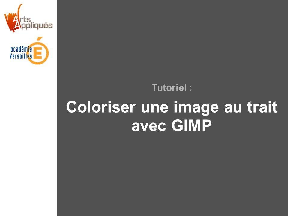 Coloriser une image au trait avec GIMP