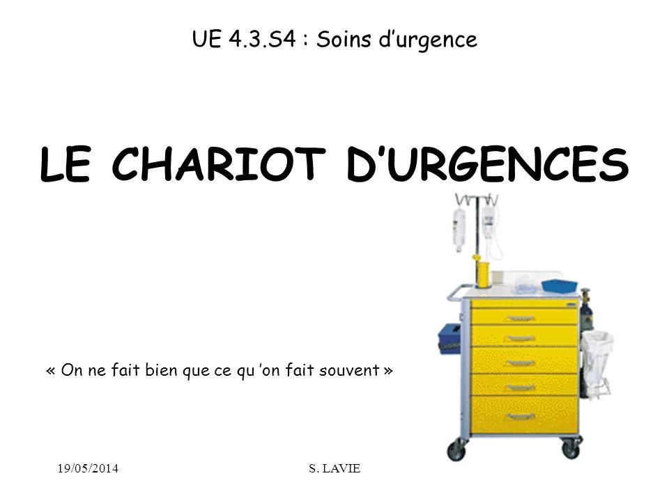 LE CHARIOT D'URGENCES UE 4.3.S4 : Soins d'urgence