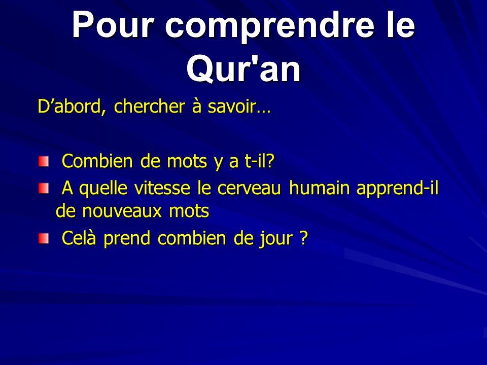 Pour comprendre le Qur an