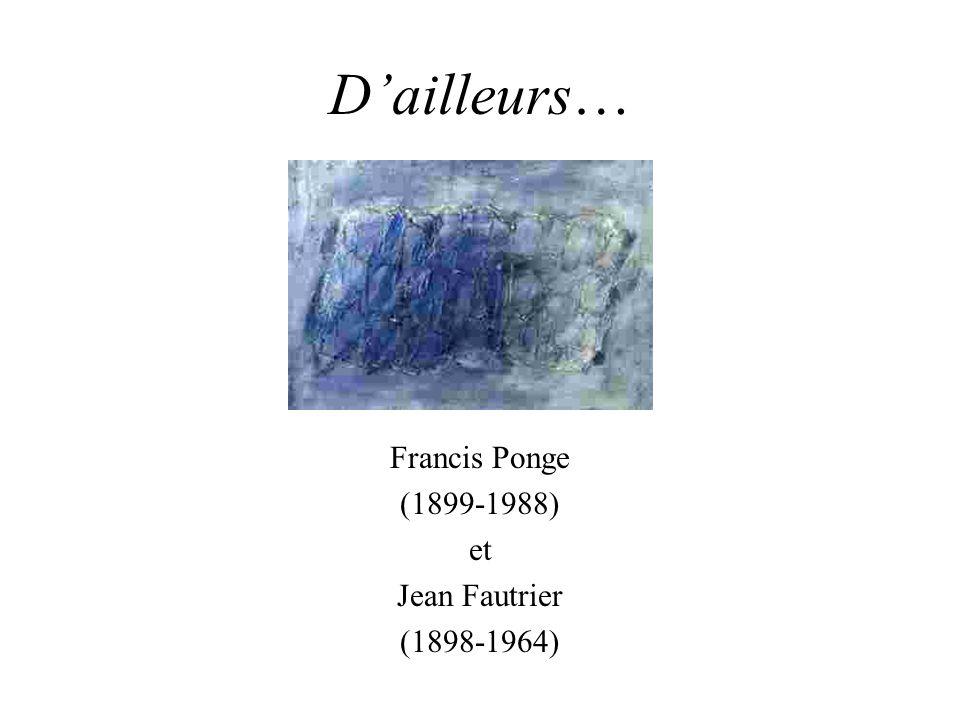 Francis Ponge (1899-1988) et Jean Fautrier (1898-1964)