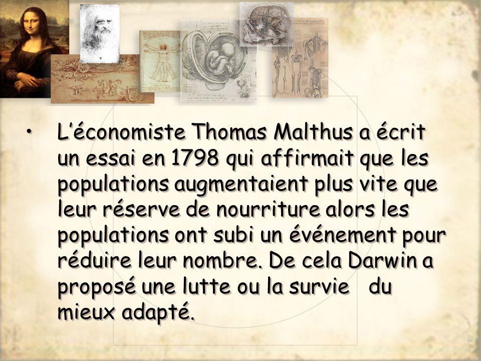 L'économiste Thomas Malthus a écrit un essai en 1798 qui affirmait que les populations augmentaient plus vite que leur réserve de nourriture alors les populations ont subi un événement pour réduire leur nombre.