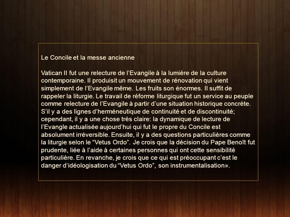 Le Concile et la messe ancienne