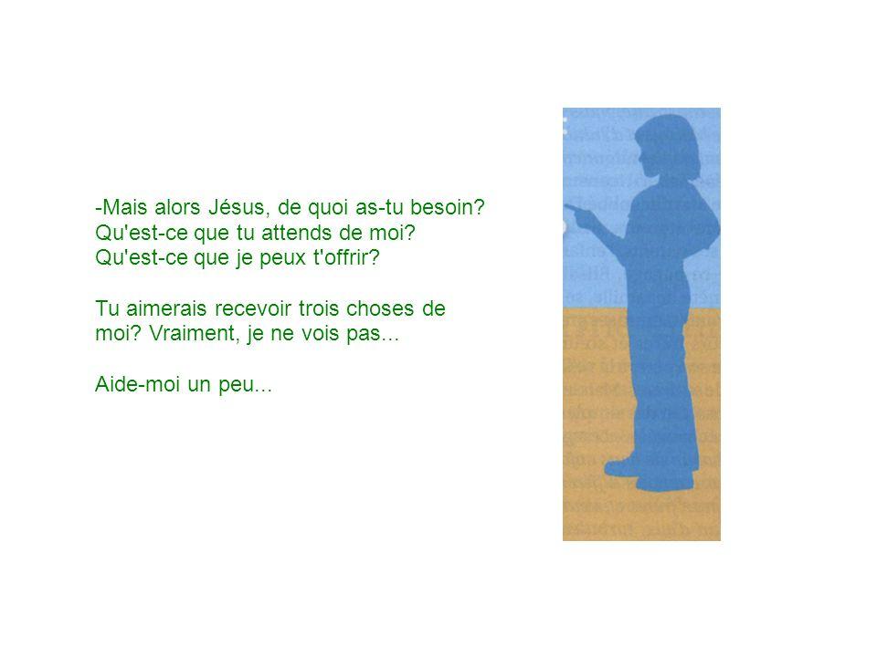 -Mais alors Jésus, de quoi as-tu besoin
