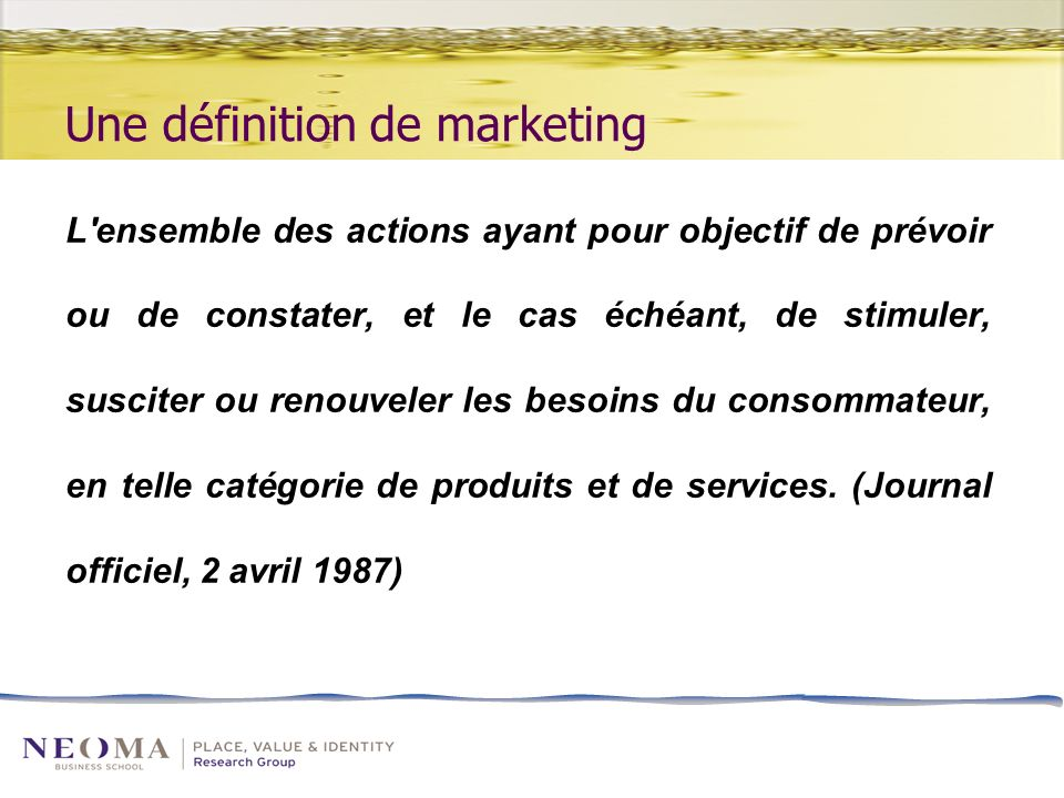 Une définition de marketing