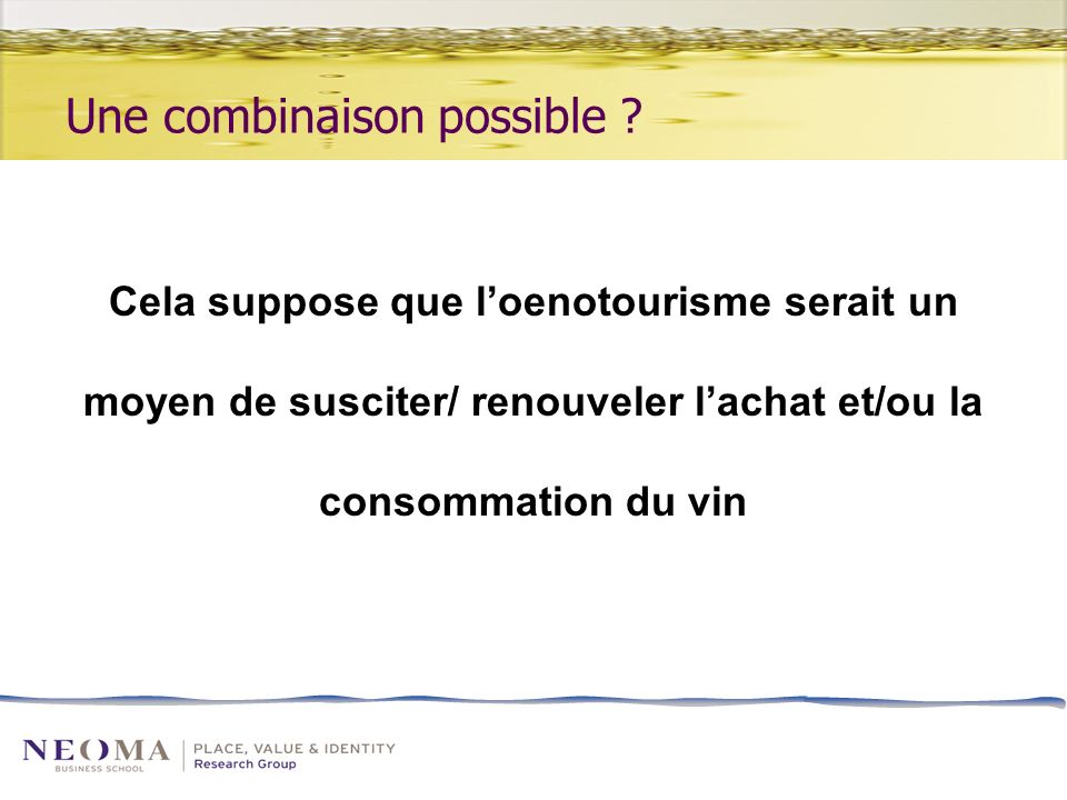 Une combinaison possible