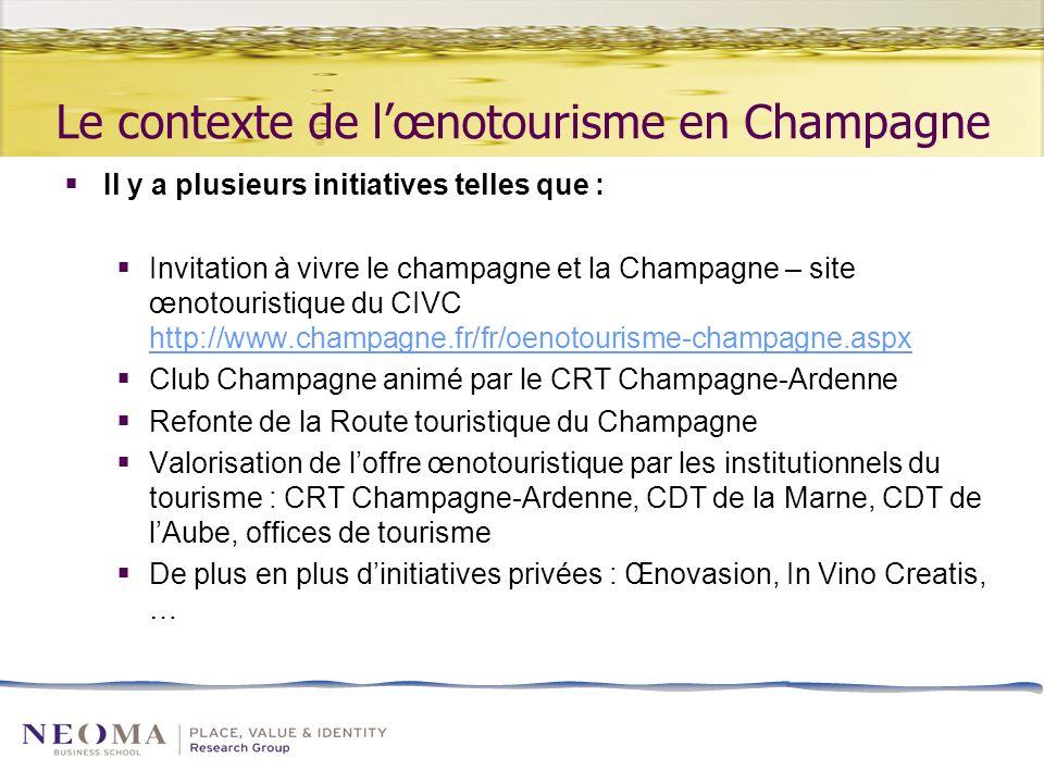 Le contexte de l'œnotourisme en Champagne