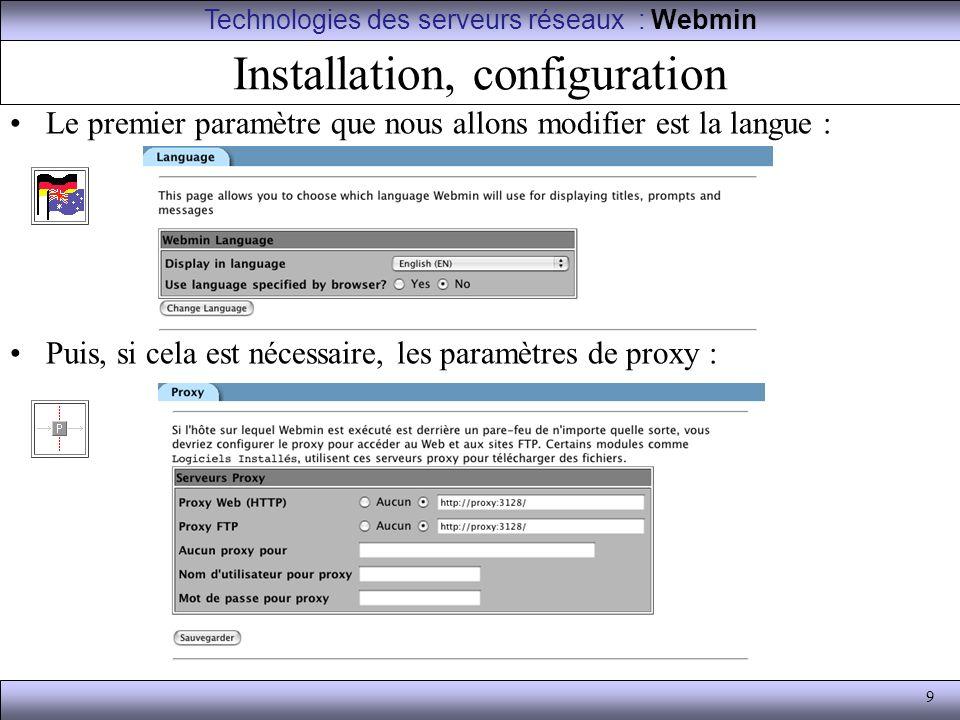 Installation, configuration