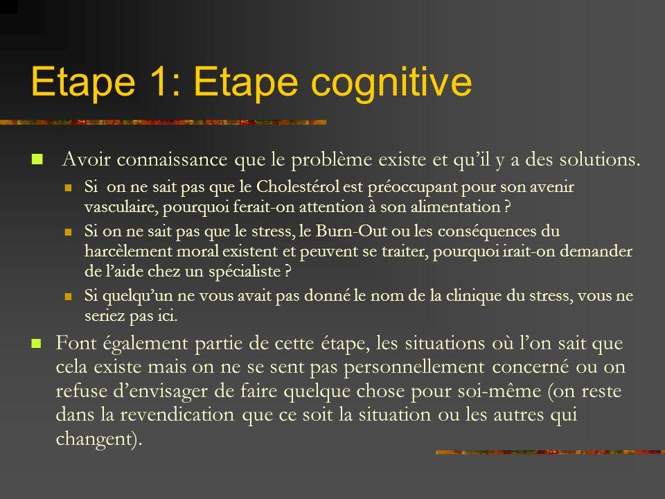 Etape 1: Etape cognitive