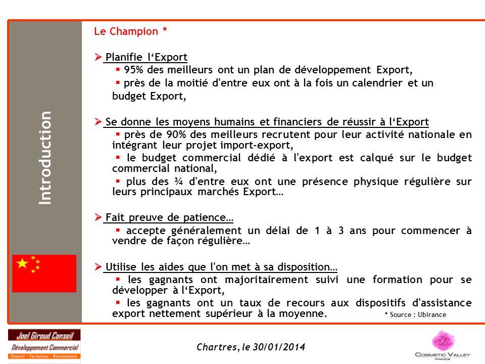 Introduction Le Champion *  Planifie l'Export