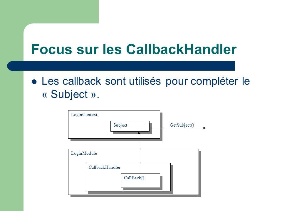 Focus sur les CallbackHandler