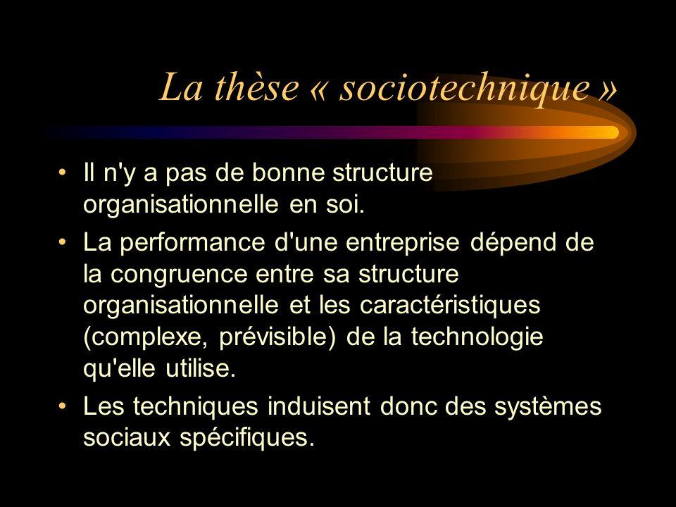 La thèse « sociotechnique »