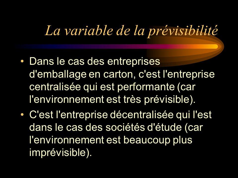 La variable de la prévisibilité