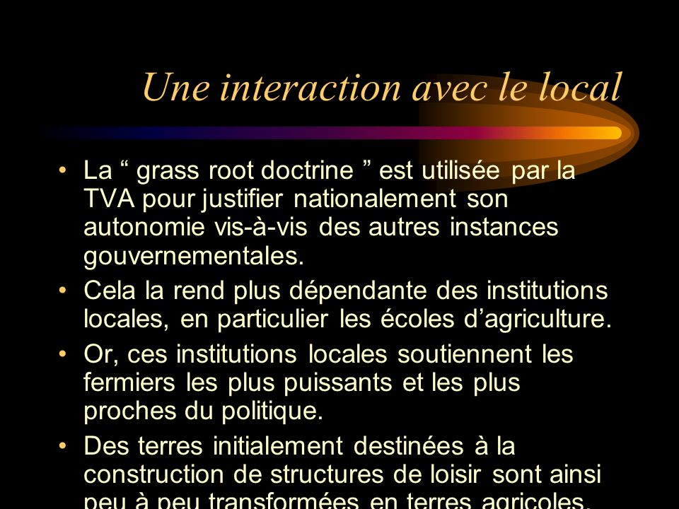 Une interaction avec le local