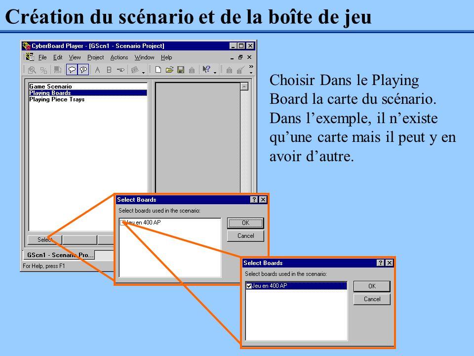 Création du scénario et de la boîte de jeu