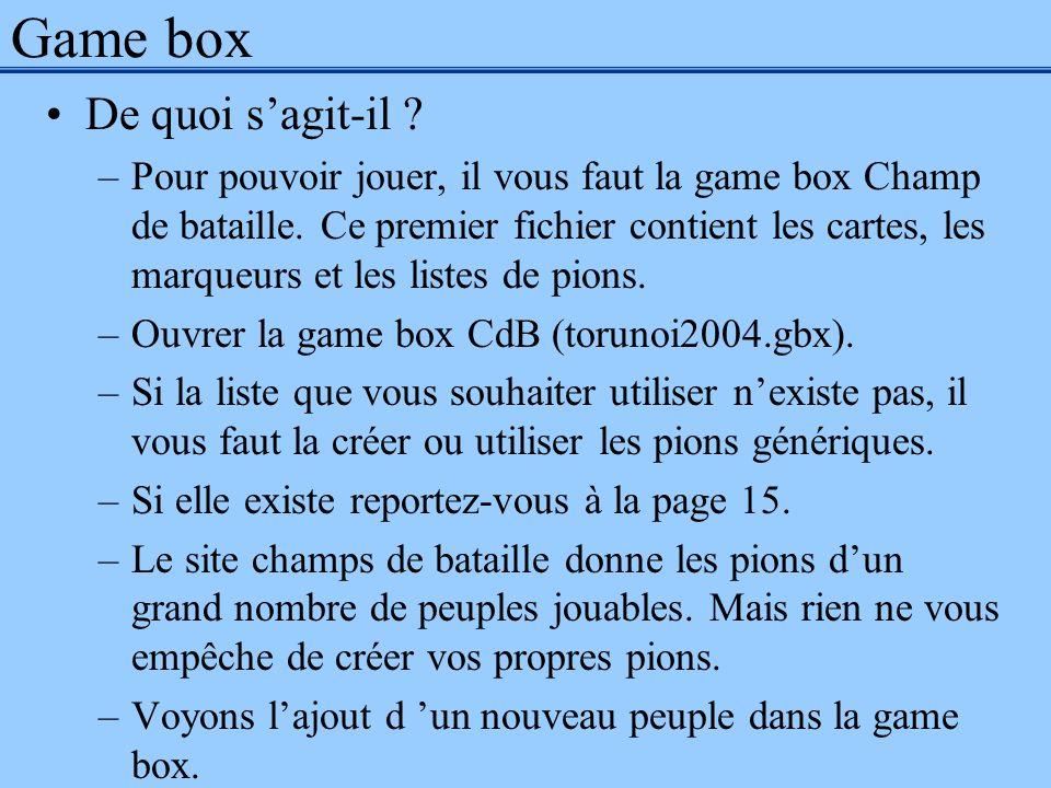 Game box De quoi s'agit-il