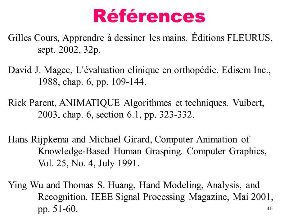 Références Gilles Cours, Apprendre à dessiner les mains. Éditions FLEURUS, sept. 2002, 32p.