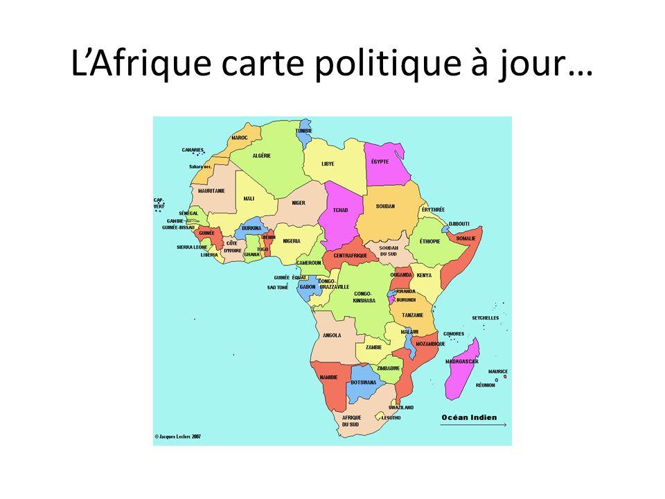 L'Afrique carte politique à jour…