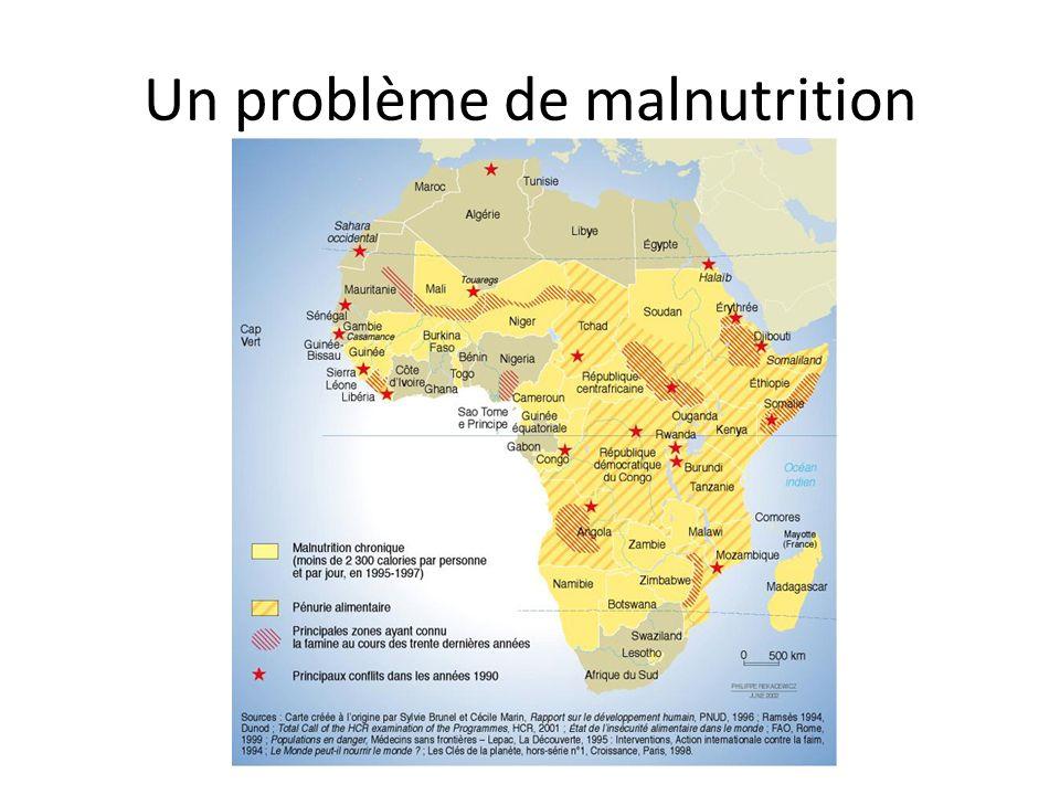 Un problème de malnutrition