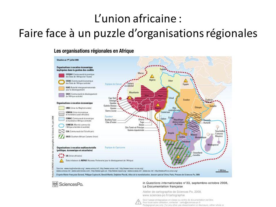L'union africaine : Faire face à un puzzle d'organisations régionales