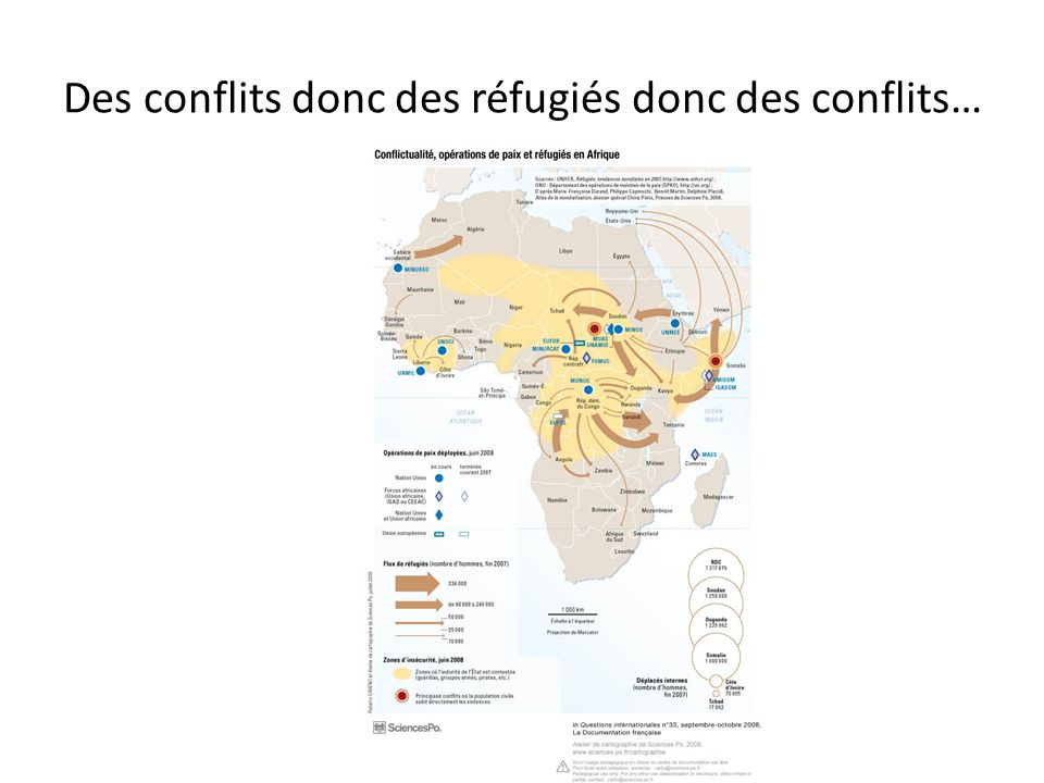 Des conflits donc des réfugiés donc des conflits…