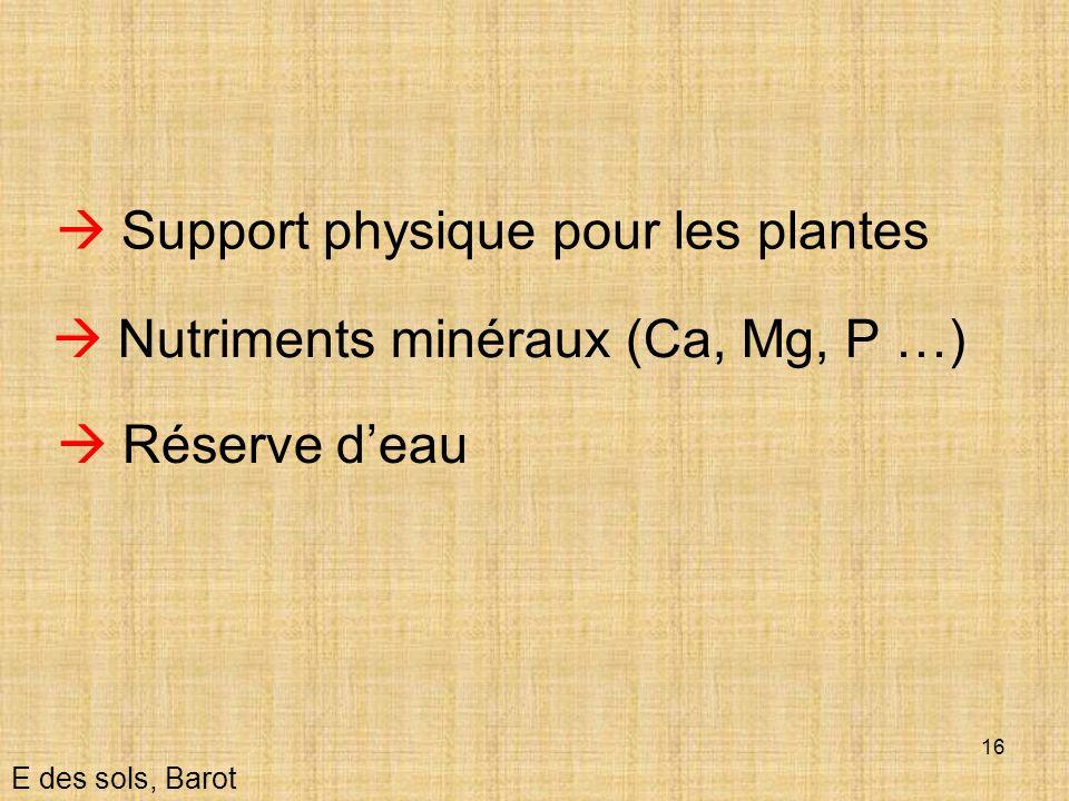  Support physique pour les plantes